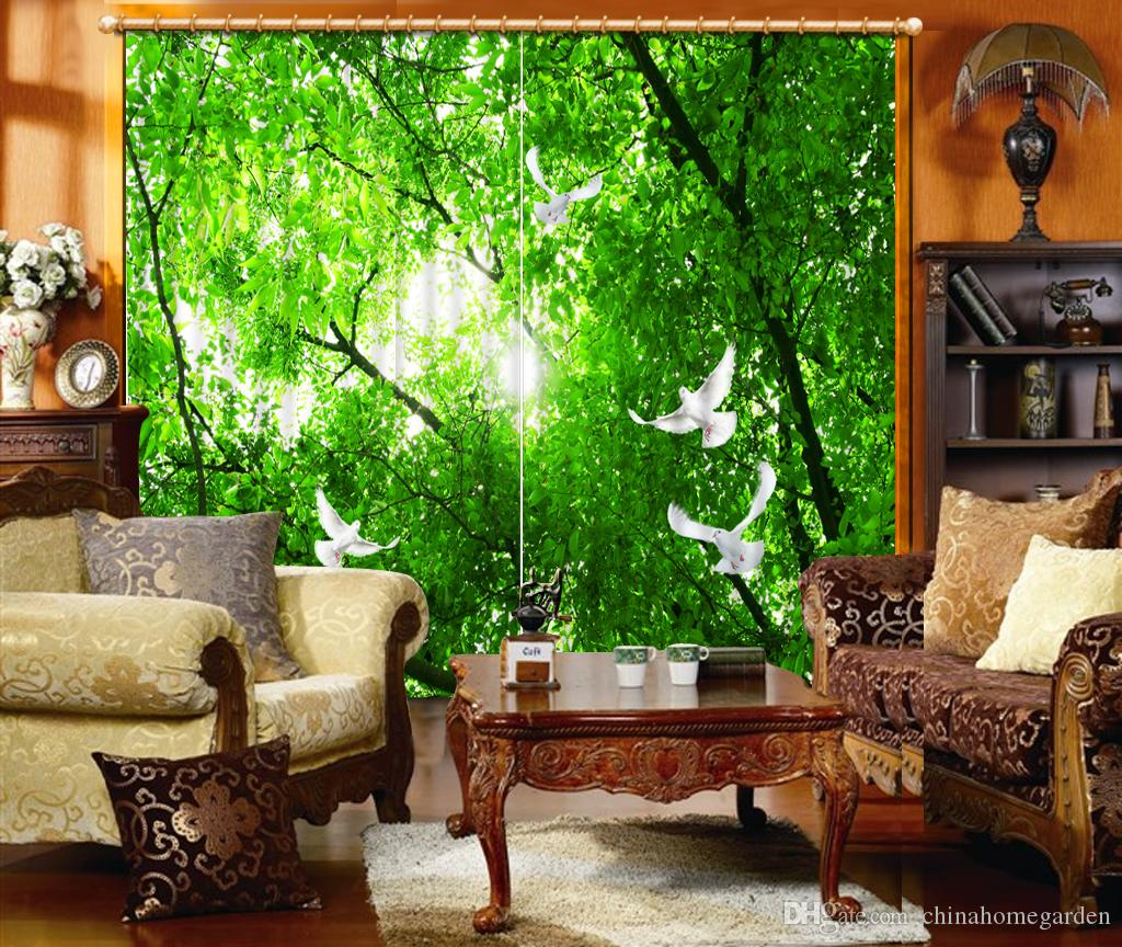 2017 Photo Any Size Custom Curtains For Living Room 3d Green Forest Custom  Curtain Fabric Window Curtains From Chinahomegarden, $211.06 | Dhgate.Com Part 68