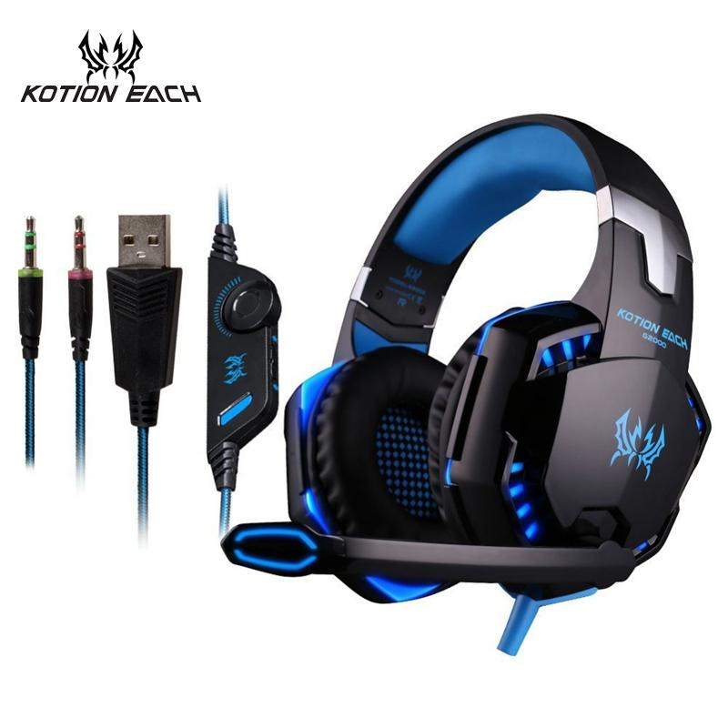 3.5mm Earphone Gaming Headset Gamer PC Headphhone Gamer Stereo Gaming Headphone With Microphone Led For Computer