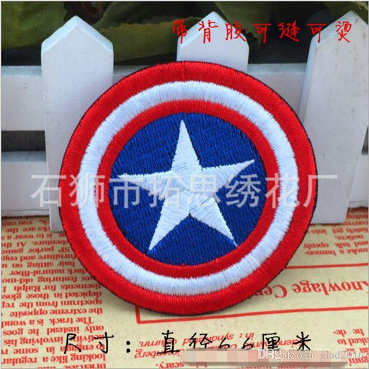 HOT SALE! Captain America Iron On Patches Made of Cloth Appliques Guaranteed 100% Quality sew on patch