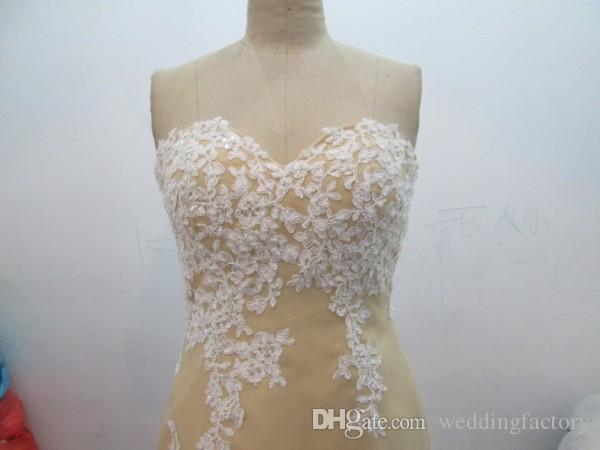 Imagem real alta baixa dama de honra vestido sweetheart sem mangas vintage laço apliques curtos frontais longos longos vestidos de convidado de casamento formal