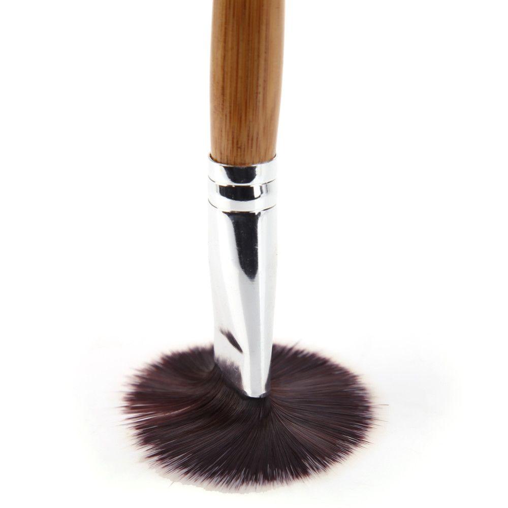 Commercio all'ingrosso 10 pz / lotto pennello facciale pennello fai da te pennelli trucco cosmetici pennelli in polvere di bambù manico in bambù
