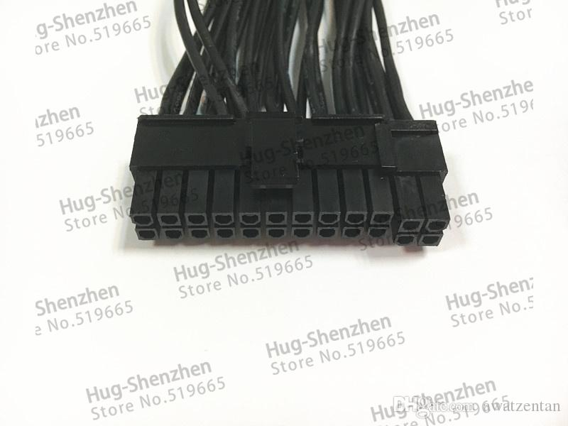 PCI-E express Power Cable ATX 24Pin 20+4Pin Triple 3 PSU Power Supply Cable CORD 18AWG Wire 20cm For BTC Miner Machine