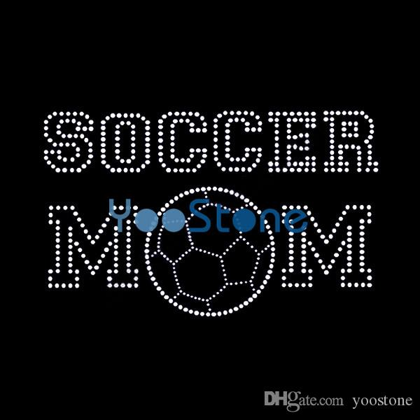 d7ea5bd5 2019 Popular Word Soccer Mom Rhinestone Transfer Iron On Hot Fix Motif  Appliques From Yoostone, $0.51 | DHgate.Com