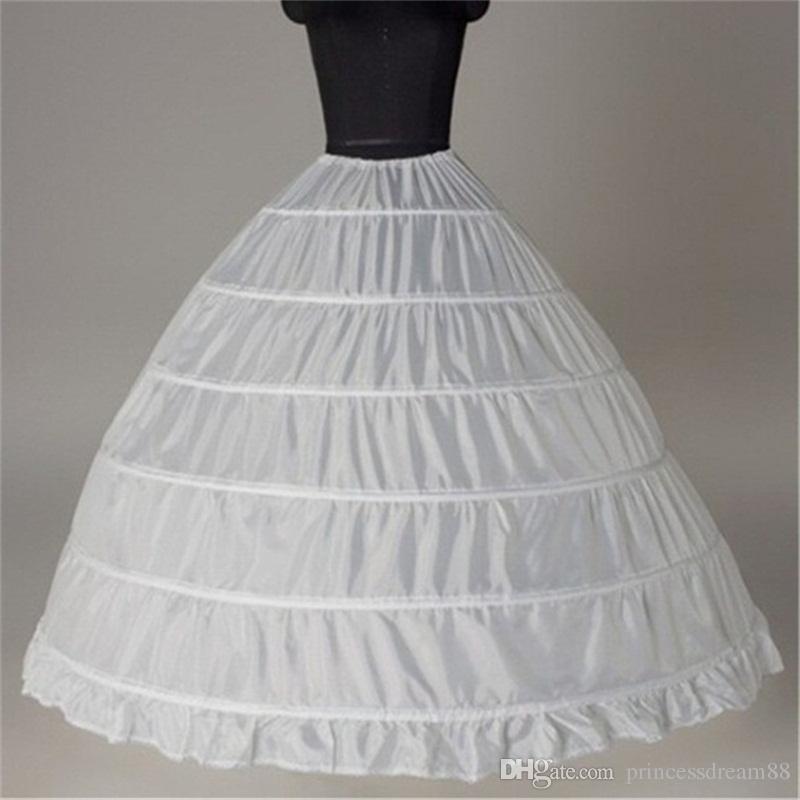 Compre Vestido De Bola Enaguas Grandes 2017 Nuevo Negro Blanco 6 Aros Novia  Falda Vestido Formal Crinolina Tallas Grandes Accesorios De La Boda A  18.7  Del ... 2971c8abaff3