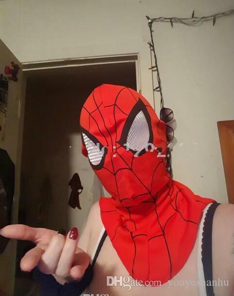 Freies Verschiffen, Cosplay Kinder und erwachsene Spiderman Schablone / Spider-Man Handschuhe Cosplay Halloween Party Supplies