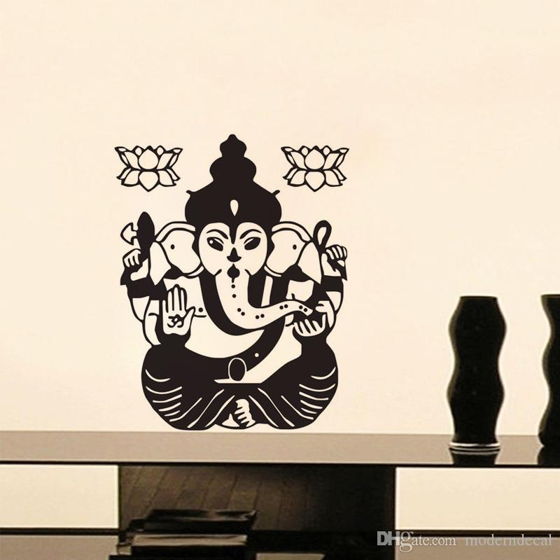 indian lord ganesha wall stickers for home vinyl wall art home
