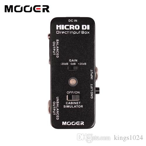 MOOER Micro DI DIRECT INPUT BOX Pedal with ultra low distortion Guitar effect pedal