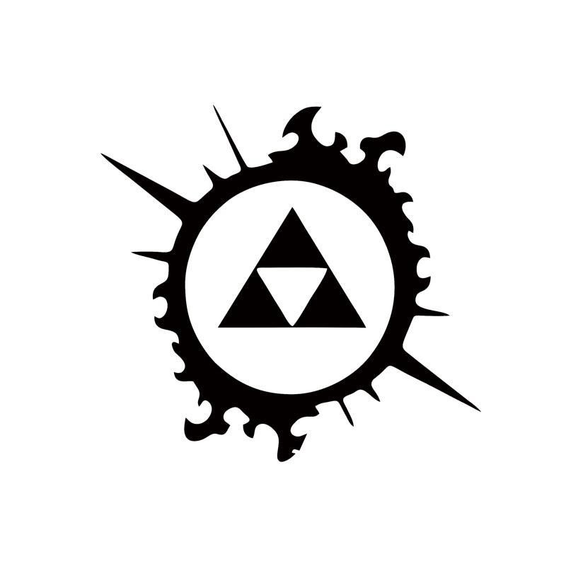 Best Cool Graphics Legend Of Zelda Triforce Splash Car Sticker Car