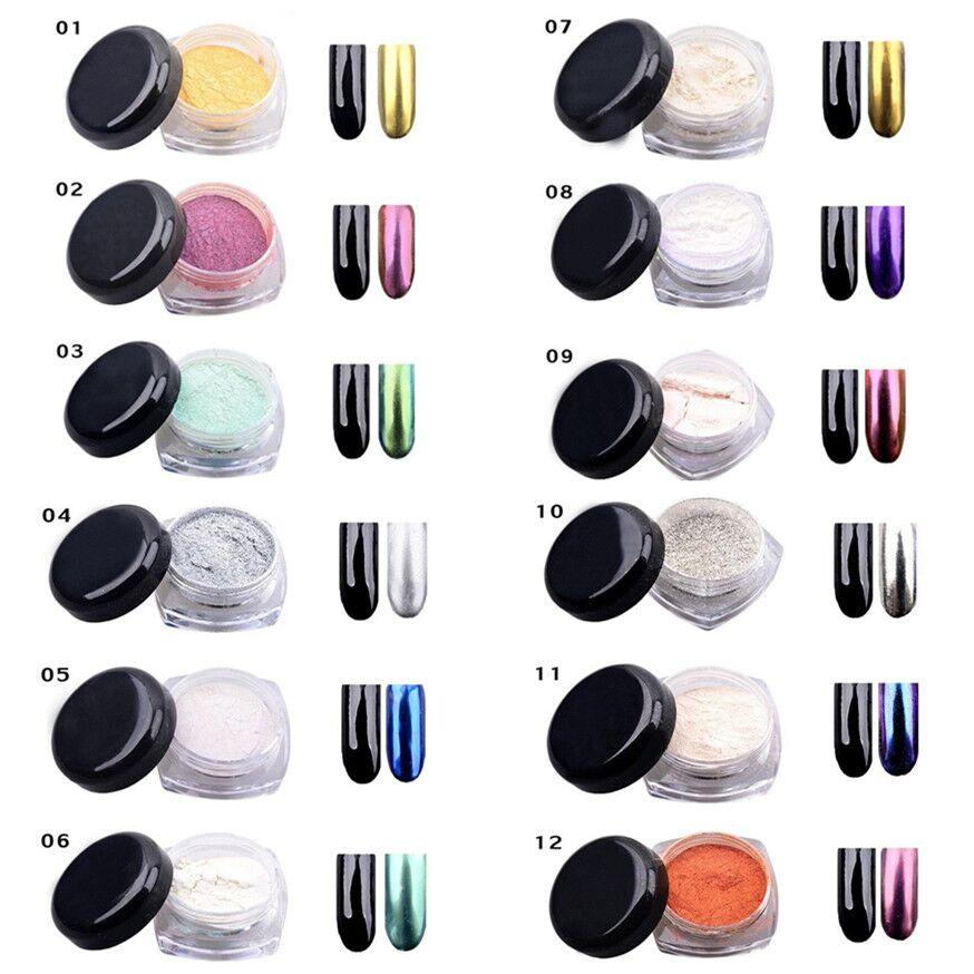 Wholesale nail art mirror nails glitter powder set shinning golden wholesale nail art mirror nails glitter powder set shinning golden uv gel nails chrome nail pigment glitters mirror effect 2g nail art with glitter sparkly prinsesfo Gallery