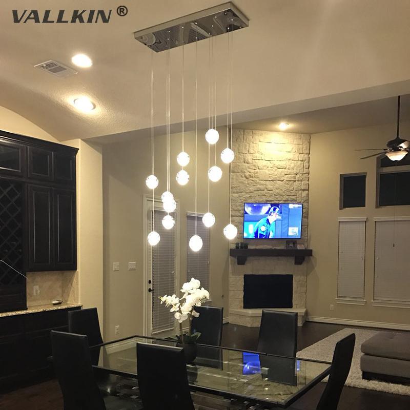 Vallkin led crystal pendant light modern glass pendant lamps vallkin led crystal pendant light modern glass pendant lamps chandelier led g4 light source for villa ceiling lamp fixtures stainless steel pendant light aloadofball Images