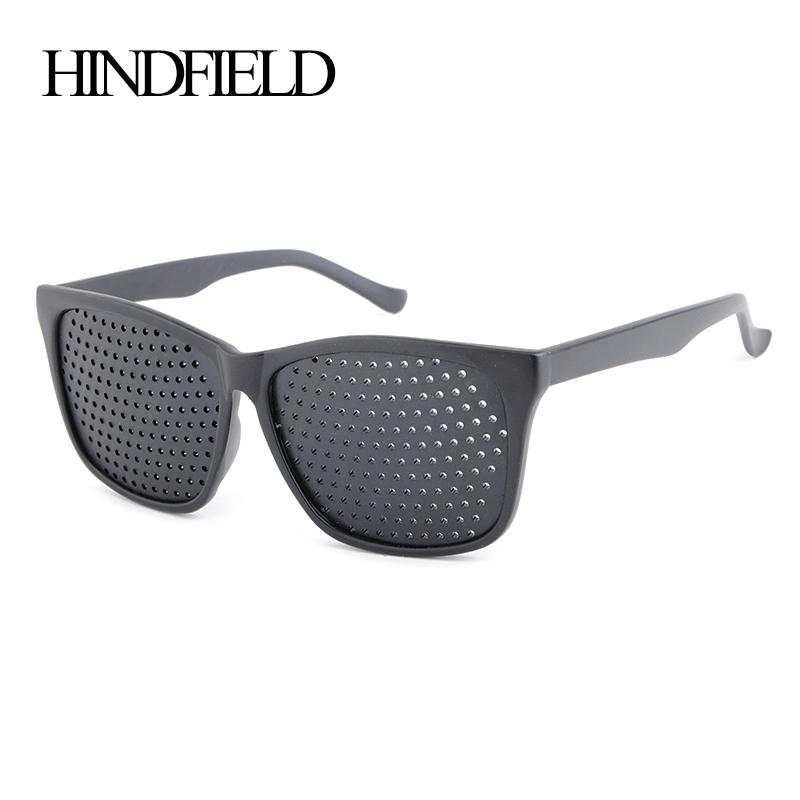 604b61d8fe Wholesale HINDFIELD Vintage Retro Black Unisex Vision Care Pin Hole  Eyeglasses Pinhole Glasses Eye Exercise Eyesight Improve Prescription Glasses  Online ...