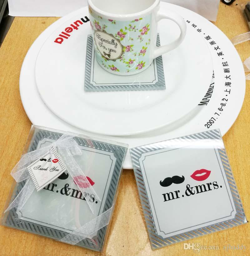 Wedding Favors And Gifts For Guest Mr Mrs Table Cup Pad Mat
