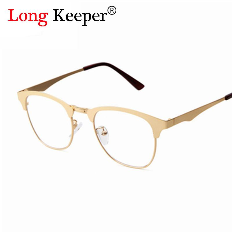 82ab5f8127 2019 Wholesale High Quality Semi Rimless Women Glasses Woman Optical  Glasses Frames Clear Lens Female Men Unisex Metal Alloy Eyewares P675 From  Value333