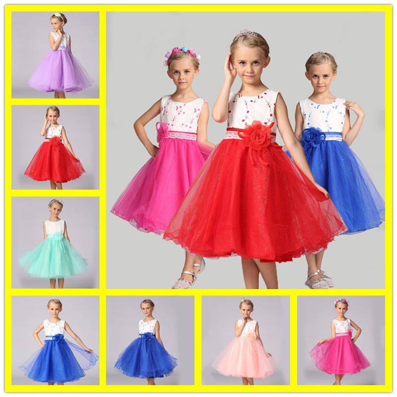fa262bc3f3b Girl Dress For Wedding Party New Style Flowers Princess Girls Dresses  Children Clothing Summer Girl Dovetail Dresses Second Hand Flower Girl  Dresses Silk ...