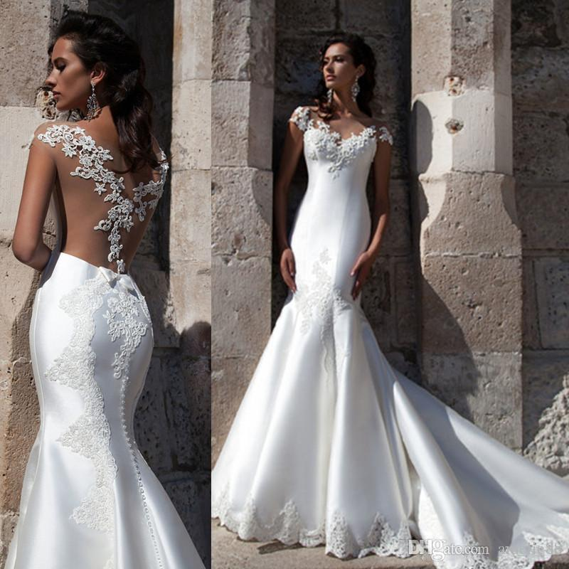 Discount Fitted See Through Wedding Dresses | 2017 Fitted See ...