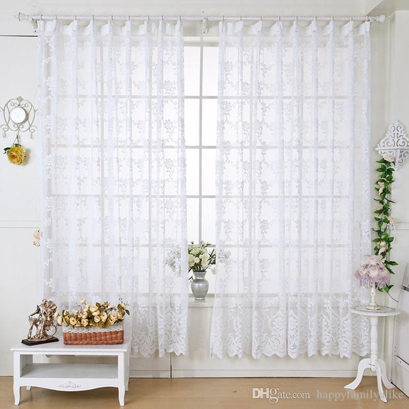 140Cm*225Cm Window Shades Jacd Curtains Caffe Color Light Transthrough  Classic Window Gauze Living Room Curtain For Room Decoration