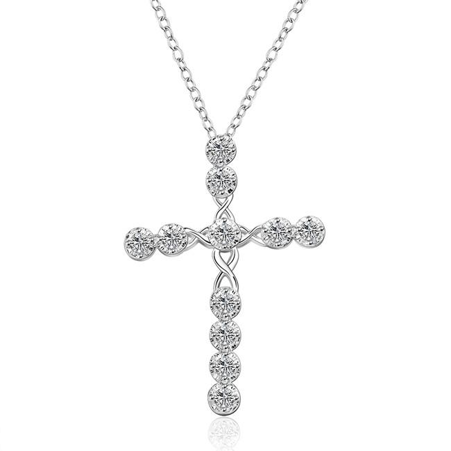 hot sale cross sailing sterling silver plated jewelry necklace for women WN668,nice 925 silver Pendant Necklaces with chain