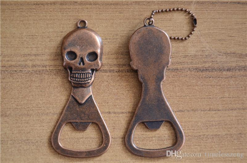 Metal beer bottle opener Cool skull shaped beer opener Retro personality presents Portable party small gifts