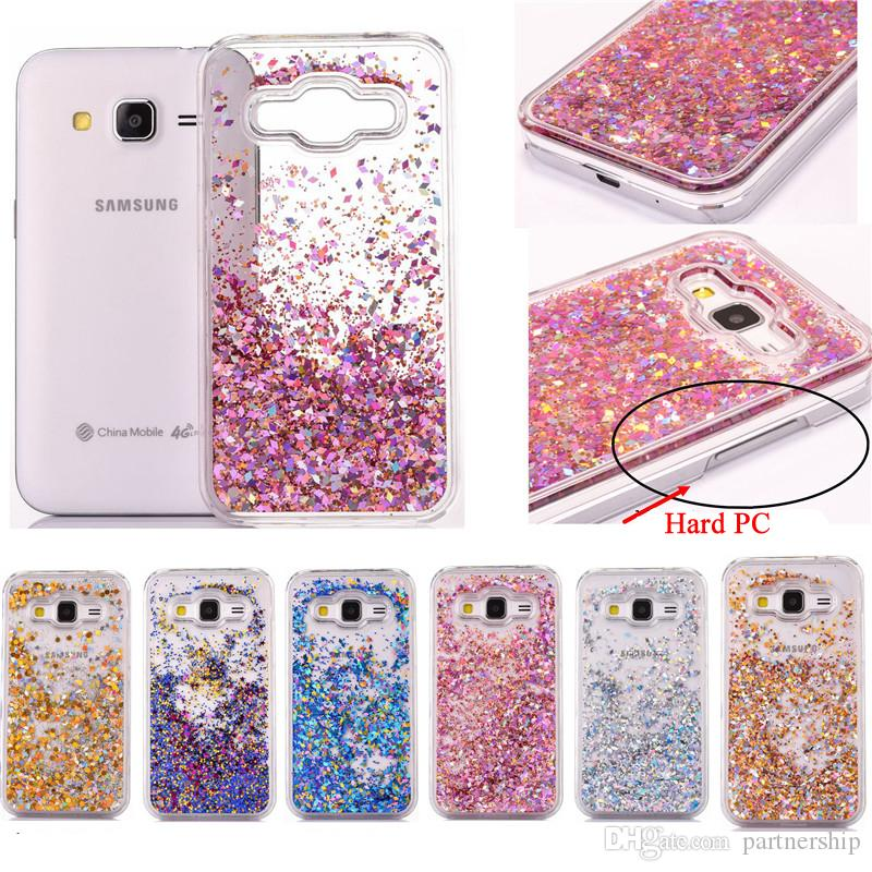 online store c6f99 bfa9e Clear Glitter Stars Dynamic Water Liquid Case for Samsung Galaxy Core Prime  G360 G360H G3606 G3608 Plastic Cover Phone cases