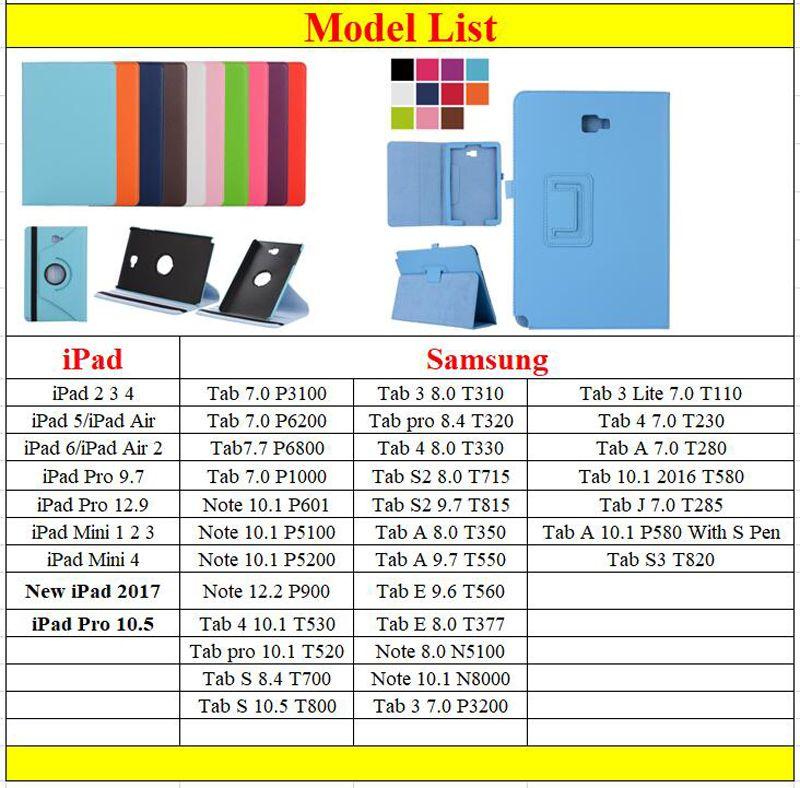 2 Fold Litchi Folio Magnetic PU Leather Case Cover Stand For New iPad 2017 Pro 10.5 2 3 4 5 6 Air Air2 9.7 Mini Mini4 Retina