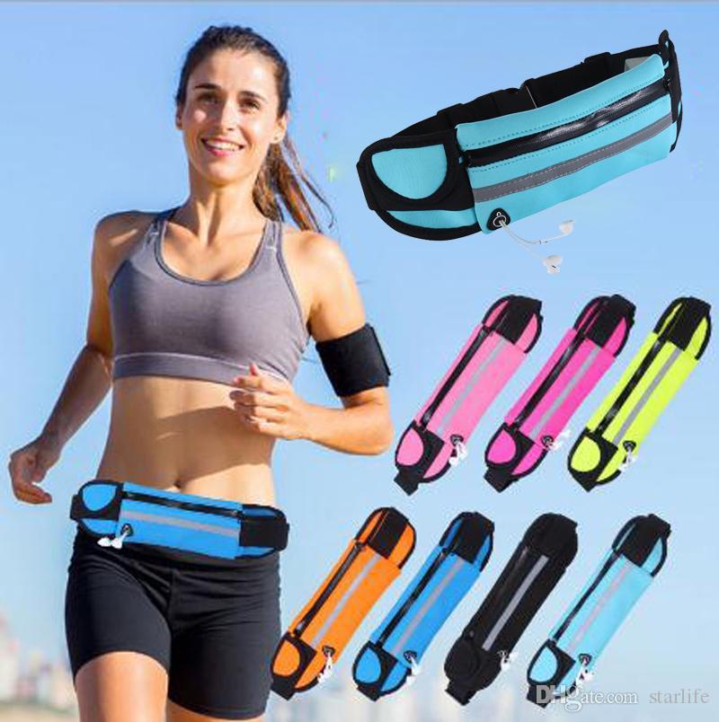 Dropship Unisex Waterproof Outdoor Running Waist Bag Mobile Phone Holder Jogging Belt Belly Bag Gym Fitness Bag Sport Accessory Relojes Y Joyas
