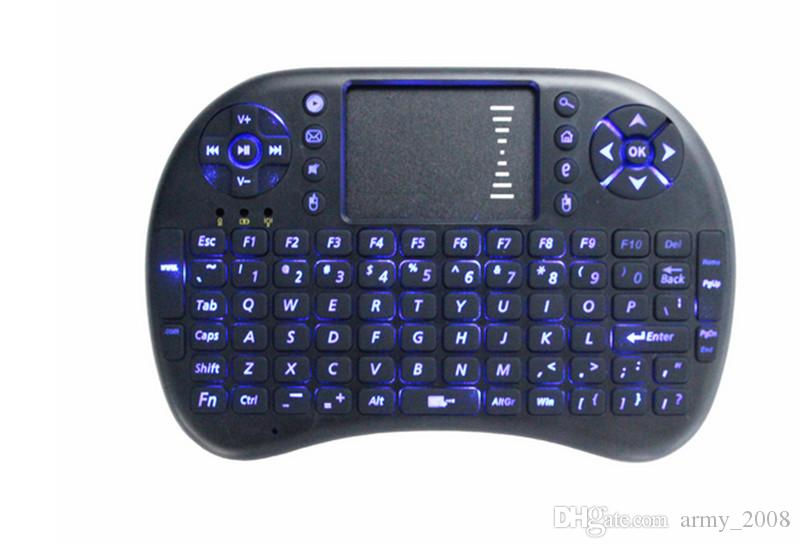 Rii i8 Mini Ratón con teclado retroiluminado Retroiluminación multitáctil para MXQ Pro M8S Plus T95 S905 S812 Smart TV Android TV Box PC