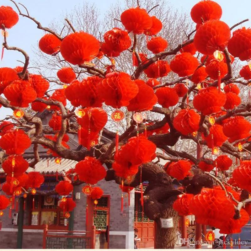 New arrival 615cm red chinese paper lanterns for wedding for Chinese decorations