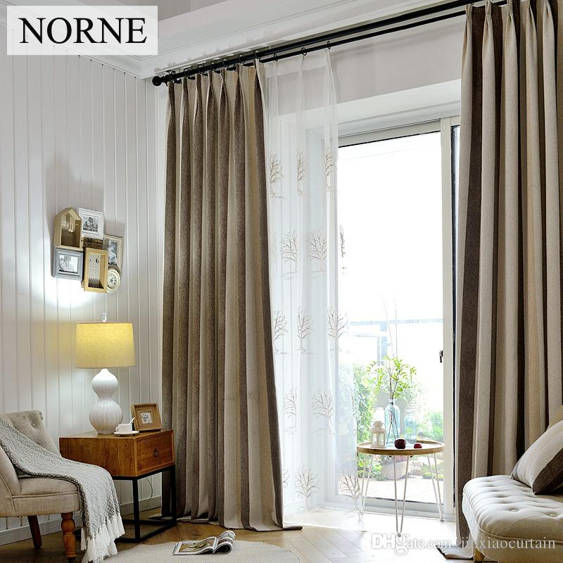 2018 Norne Striped Heavy Blackout Curtain 80 Shading RateThermal Insulated Privacy Assured Window Curtains For Bedroom Living Room From Jinxiaocurtain
