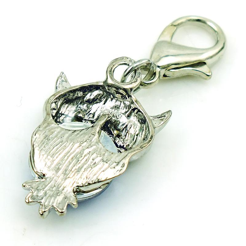 أزياء الحيوانات العائمة سحر مع المشبك جراد البحر استرخى البلاستيك كريستال البومة المعلقات diy سحر لصنع المجوهرات الملحقات