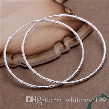 Al por mayor - el precio más bajo regalo de Navidad 925 Sterling Silver Fashion Earrings yE044