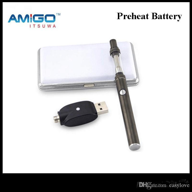 Original Amigo iTsuwa 380 mAh Pré-aqueça a Bateria Tensão Ajustável Para Tanque Liberdade V1 V3 V5 V6 V7 V8 V9
