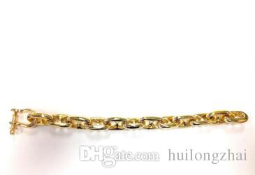 Online Cheap Gold Nautical Jewelry Anchor Chain Men Bracelet By