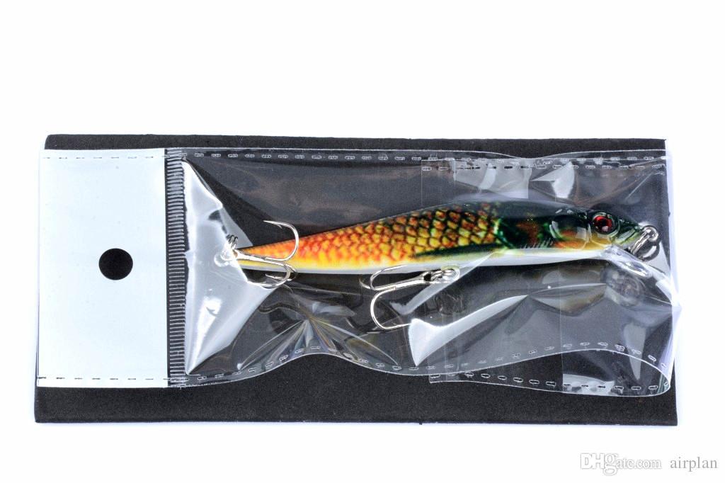 of Plastic Topwater Fishing Bait 10cm, 10g Artificial Swimbaits Wobbler Hard Fishing Lures Bass Pike Big Game Pesca Tackle Hooks