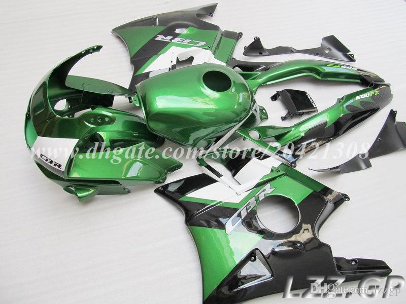 Green black fairings for Honda CBR600 F2 1991-1994 1992 1993 CBR 600 F2 91-94 CBR600 F2 91 92 93 94 #v28w6