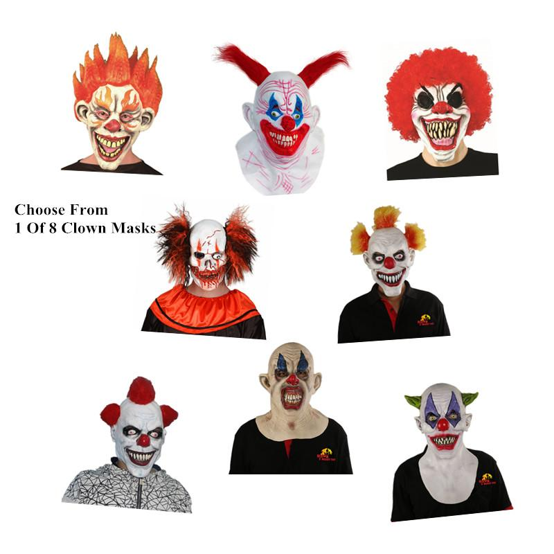 Wholesale X Merry Fast Shipping Joker Clown Costume Mask Creepy Evil Scary Halloween Clown Mask White And Black Masquerade Mask White Mask Masquerade From ...  sc 1 st  DHgate.com & Wholesale X Merry Fast Shipping Joker Clown Costume Mask Creepy Evil ...