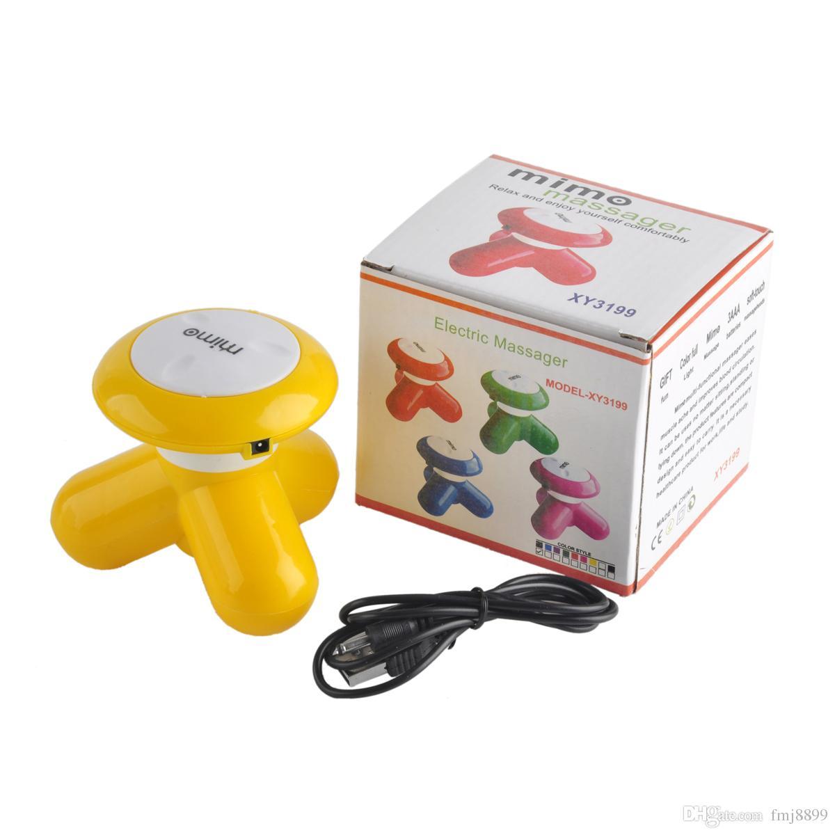 Massageador de cabeça Mini Onda Manipulada Elétrica Vibratória Massageador USB Bateria Máquina de Cuidados de Saúde de Uso de Corpo Inteiro via DHL