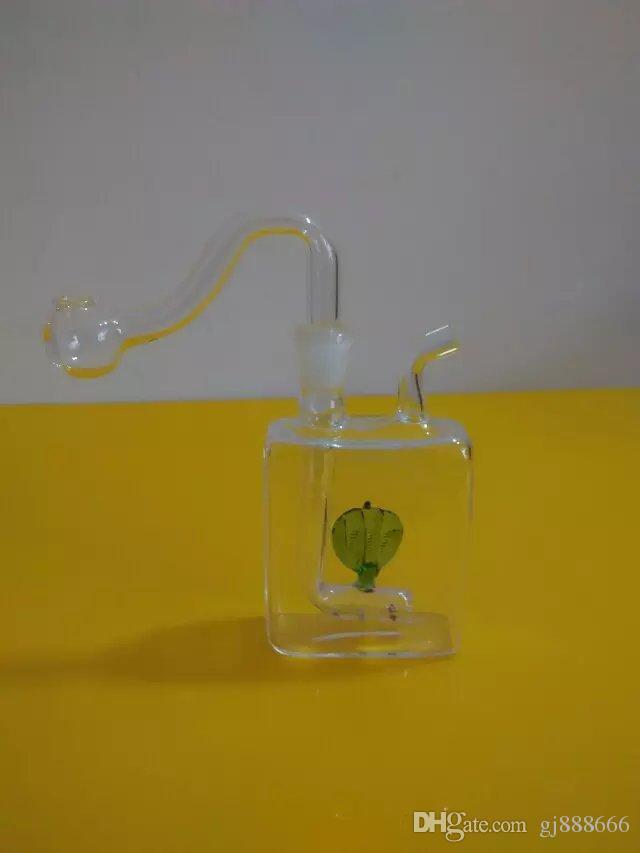 Düz buket denizanası cam bong aksesuarları, Cam Sigara Borular renkli mini çok renkli El Boruları En İyi Kaşık glas
