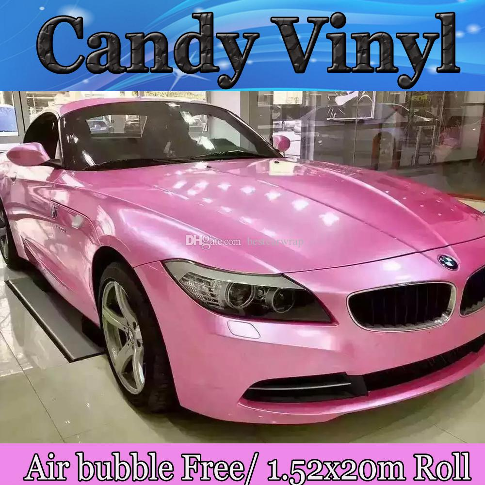 2018 2017 pink gloss candy vinyl car wrap film with air free vehicle wrap covering foil auto. Black Bedroom Furniture Sets. Home Design Ideas