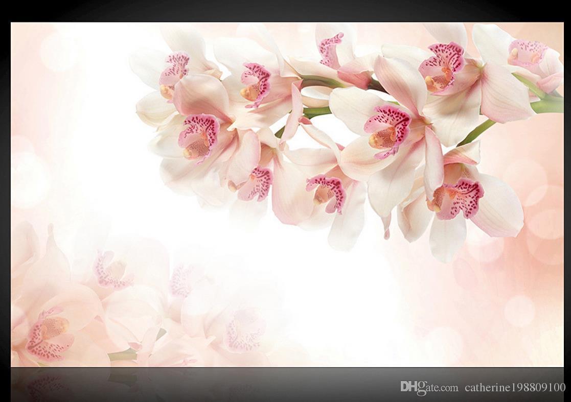 Fundo da flor da decoração da parede pintura mural 3d papel de parede 3d papéis de parede para TV pano de fundo