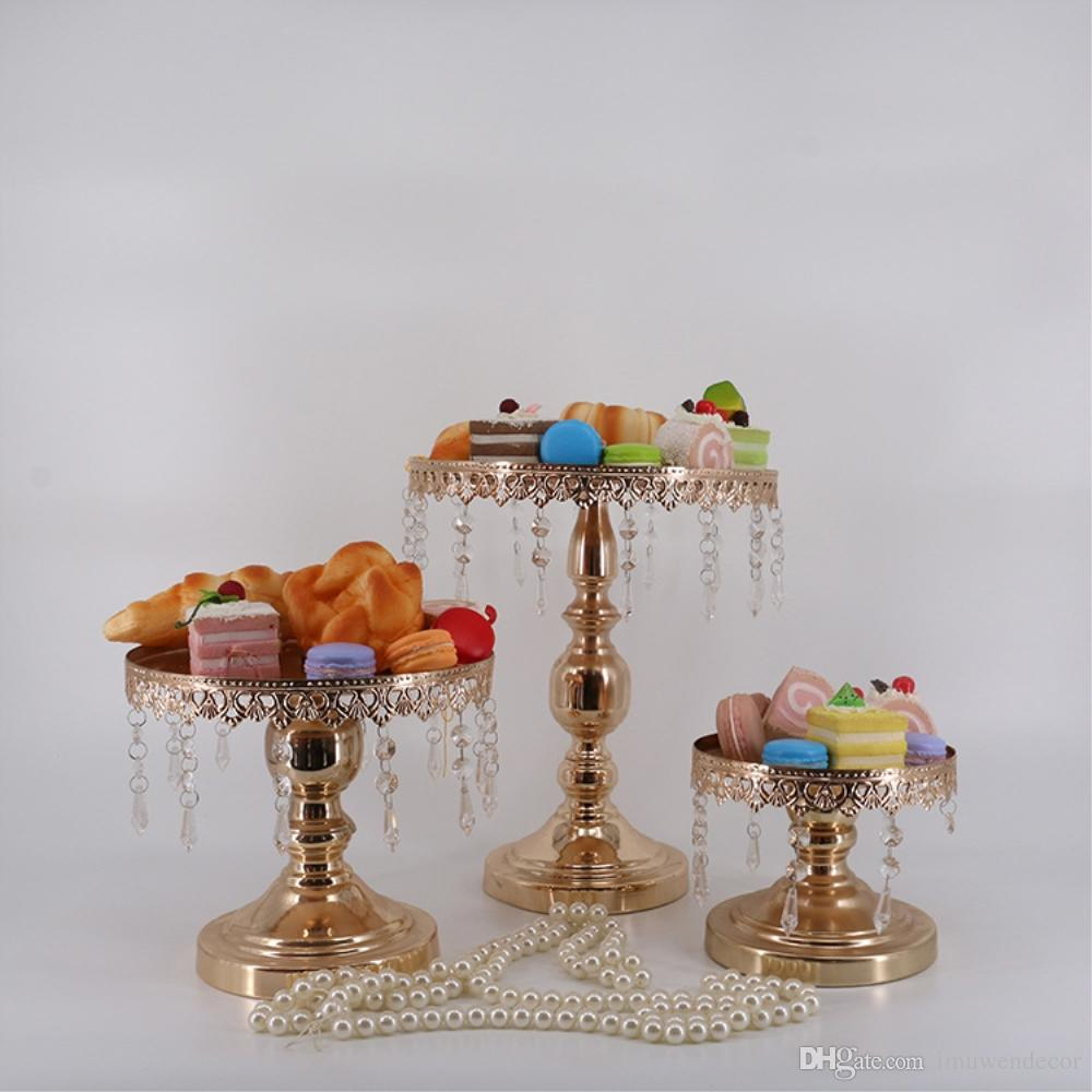 Online Cheap Cake Stand Metal Iron Crystal Pendant Cupcake Stand ...