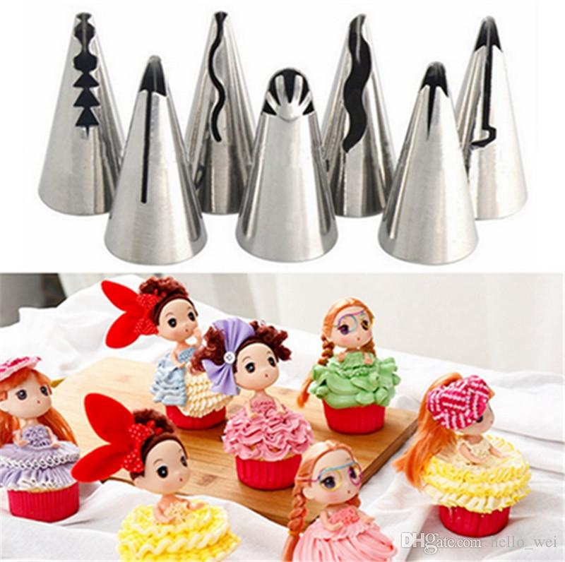 New Stainless Steel Cake Icing Piping Nozzles Set Kitchen Baking Tool Wedding DIY Pastry Fondant Cupcake Decorating Tips