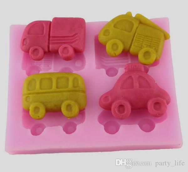 Car Fondant Cake Chocolate Cookies Sugarcraft Mold Cutter Silicone Mould Bake Tools DIY Hot Sale!