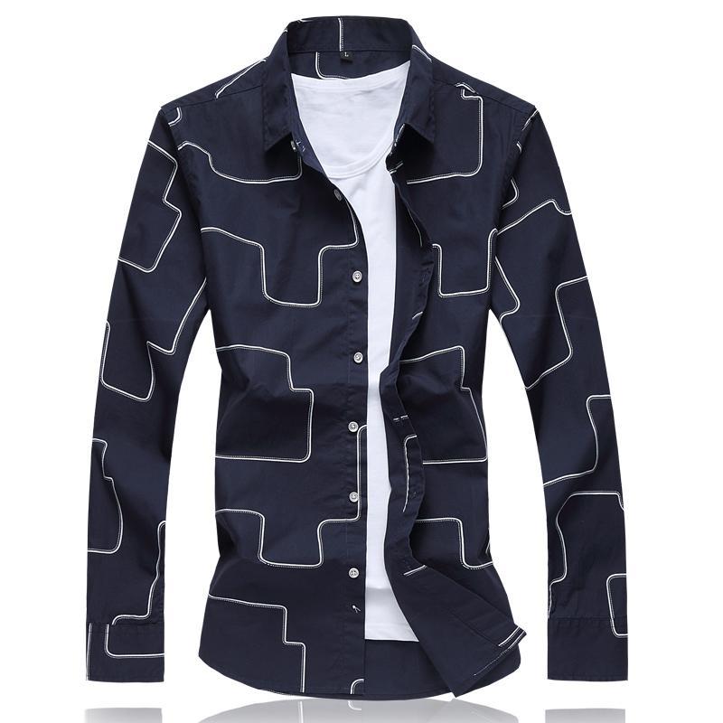 2019 Wholesale Latest Design Fashion Geometric Shirt Men 2017 Brand