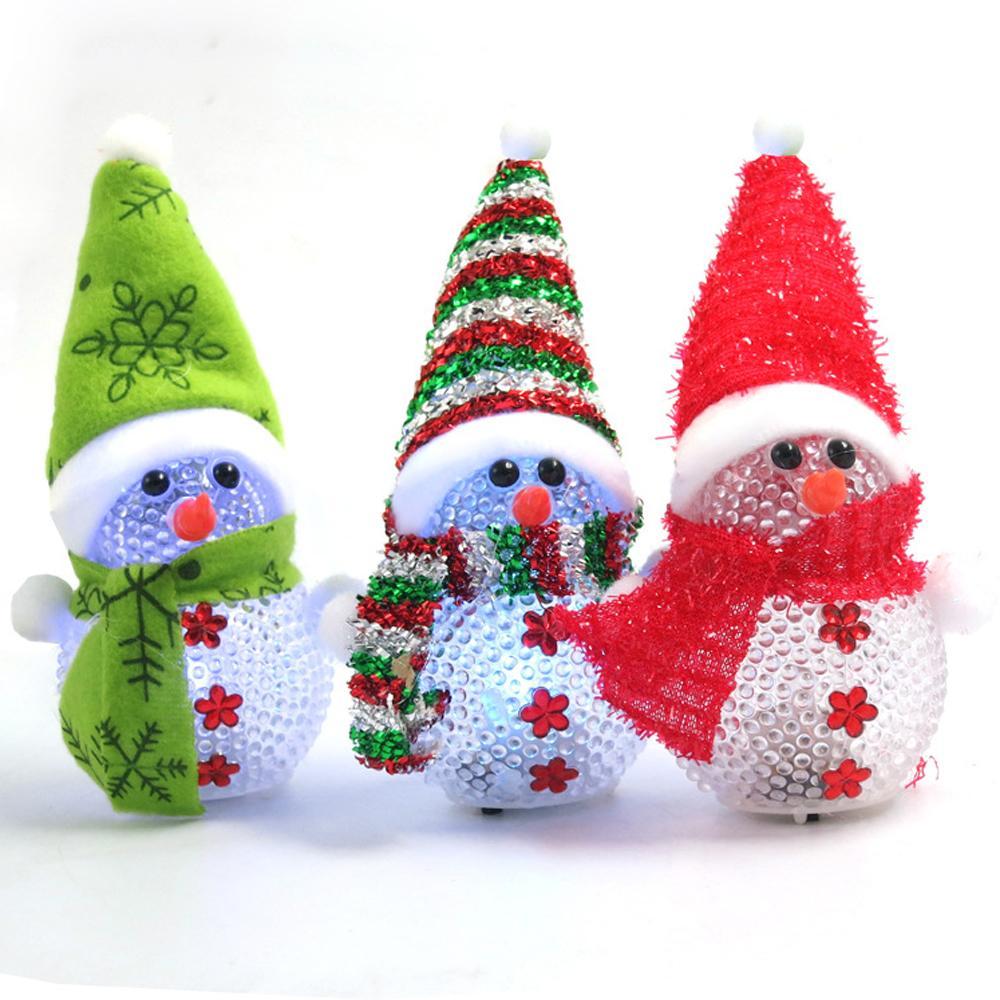 Wholesale 11cm Heigh Led Christmas Lights Snowman Decoration For ...