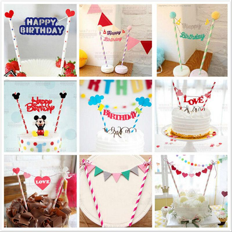 Wholesale Happy Birthday Cake Topper For Kids Party Decoration Supplies Wedding Baby Shower Wire Skin Cutter Online With
