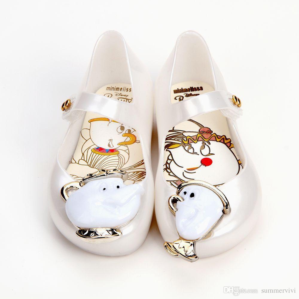 efb94e38047b Melissa Jelly Shoes Fashion New Girls Cartoon Anime Sandals Children Soft  Bottom Beach Sandal Baby Shoes Girls Fragrance Sandals T4457 Shoes For  Little Boys ...