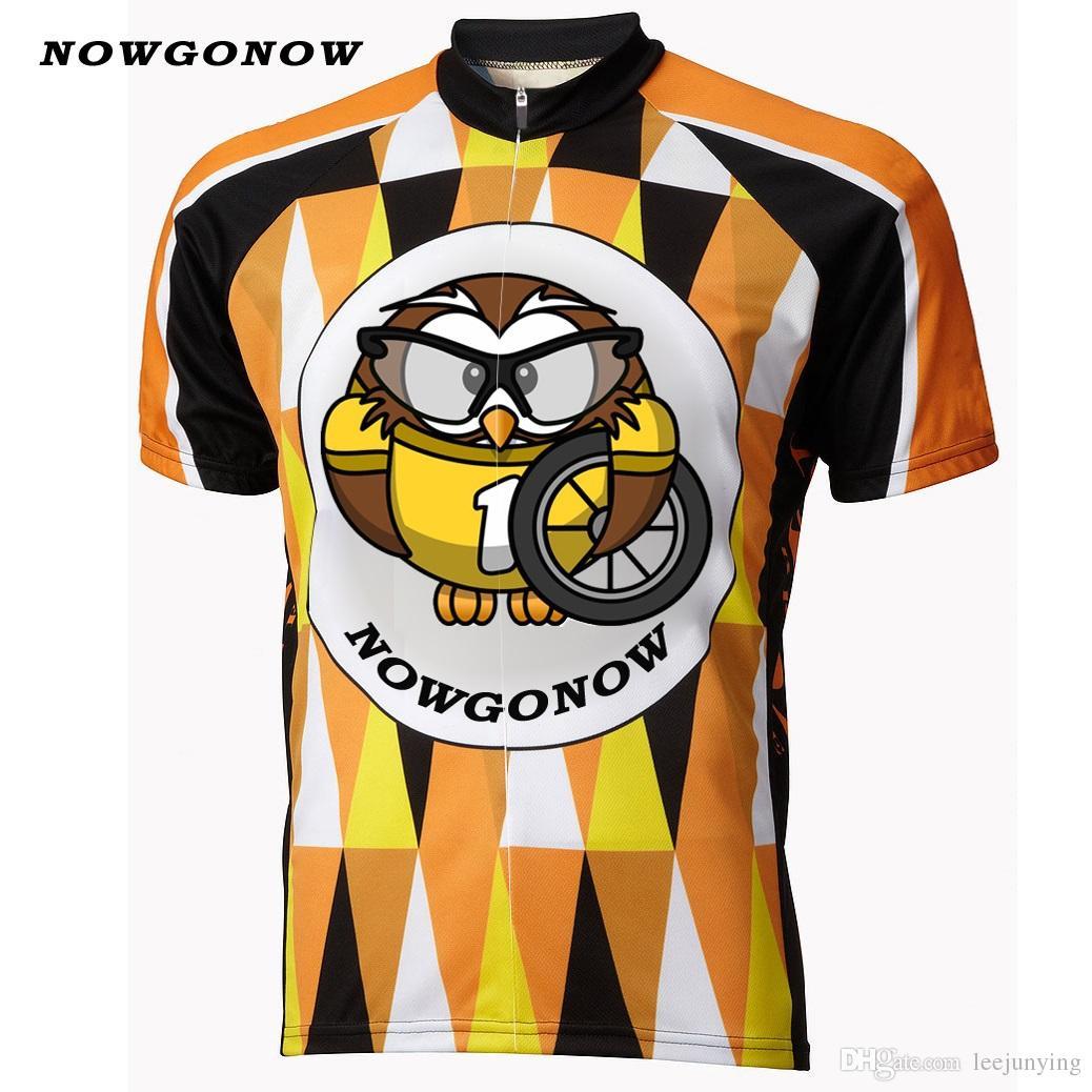 Man 2017 Cycling Jersey Bird Retro Team Yellow Black Bike Nighthawk Ropa  Maillot Ciclismo Wear Clothing Riding Racing NOWGONOW Cycling Jersey CYCLING  ... 47c170816