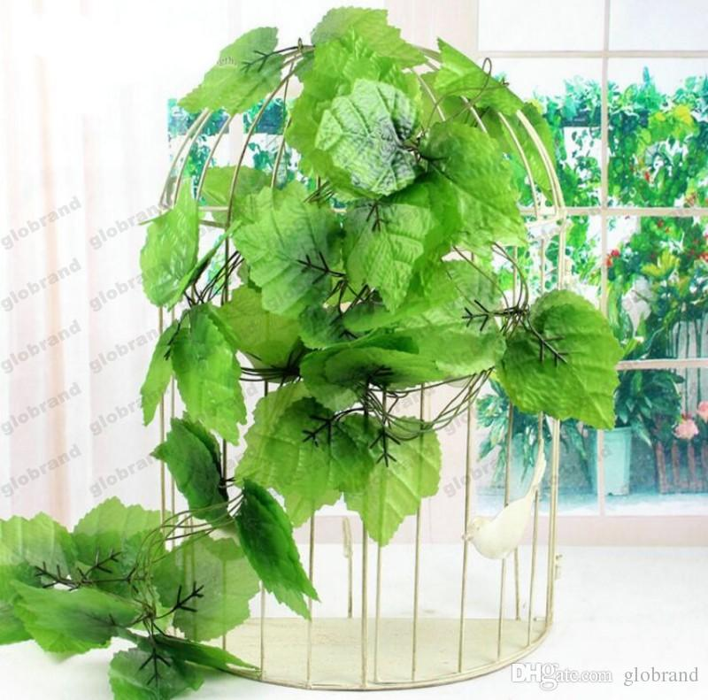 2018 new 230cm / 7.5 ft long artificial plants green ivy leaves
