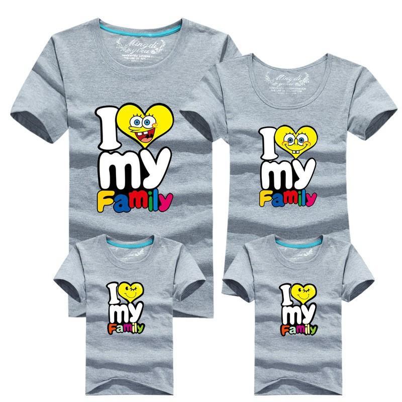 21e00f4ded7d9 Wholesale-3pcs/set HOT Selling 95% Cotton Shirt Yellow Family Set T Shirts  2016 Matching Family Clothing Men Women Kids Large T-Shirts