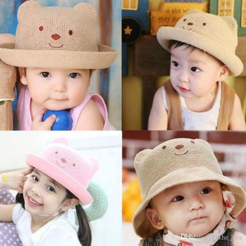 0432f1bd 2019 Baby Summer Hats For Beach Kids Outdoor Bear Children Baby Straw Cap  New Kids Sun Hats Free Fast Shipping From The_one, $3.65 | DHgate.Com